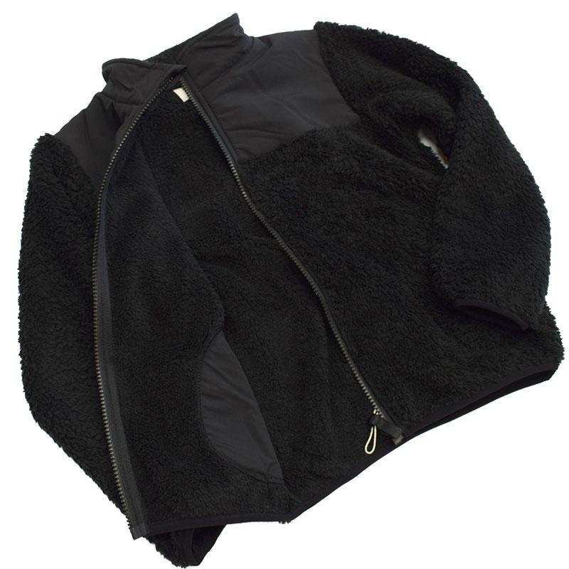 ニードルワークス ボアジップジャケット ブラック