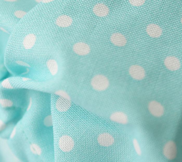 日本製!ベビーフリルブルマ パステルドット エメラルドグリーン Free 6カ月〜3歳 パンツ・ムームー・子供服・出産・祝い・ギフト