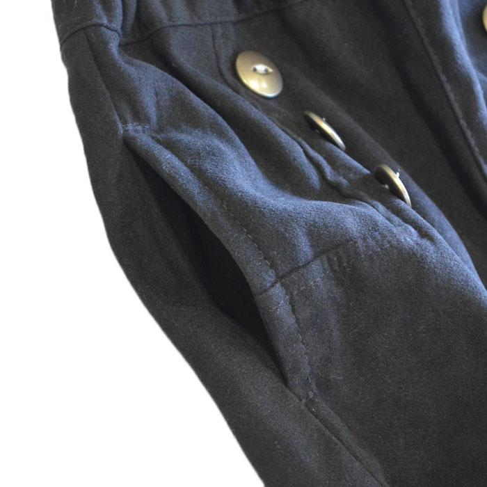 ミアメール(miamail) ストレッチスウェードショートパンツ ブラック