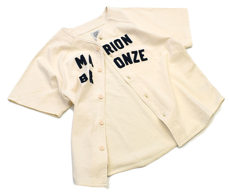 オーシャンアンドグラウンド ベースボールシャツ オフホワイト 1116101