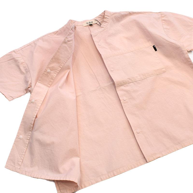 エフオーユー FOU オーバーサイズボックスシャツ ピンク 209021