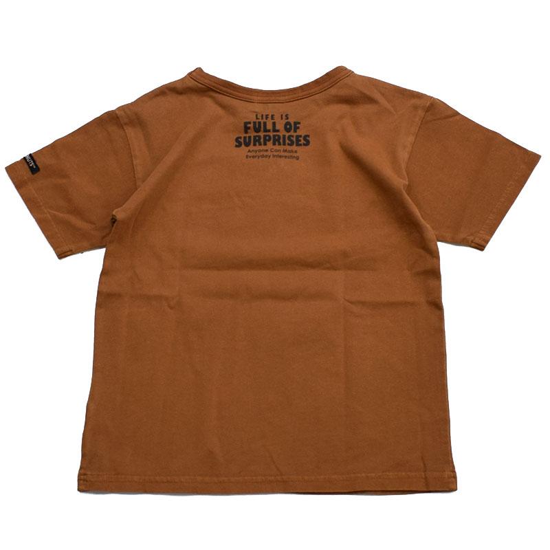 エフオーキッズ PEANUTSコラボ半袖Tシャツ ブラウン 207031