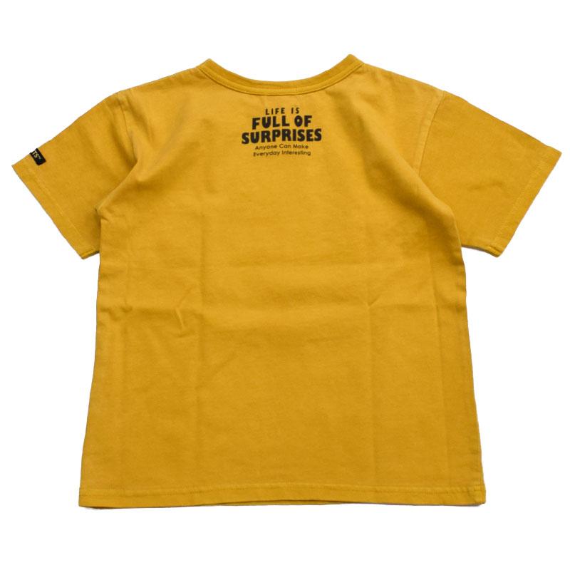 エフオーキッズ PEANUTSコラボ半袖Tシャツ マスタード 207031