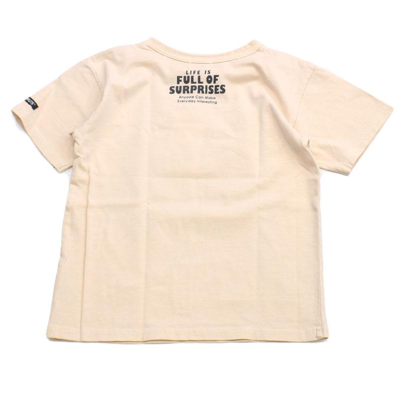 エフオーキッズ PEANUTSコラボ半袖Tシャツ ベージュ 207031