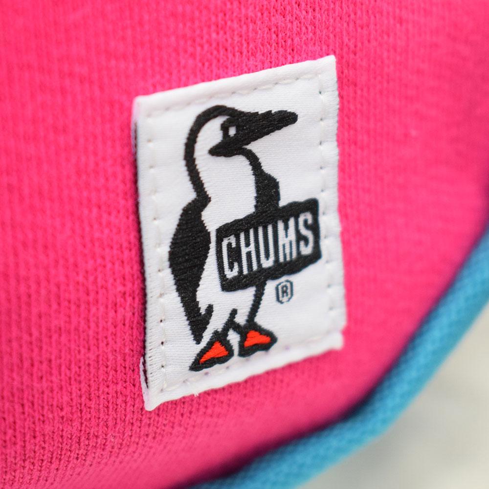 チャムス CHUMS ミニバナナショルダーバッグ スウェットナイロン ローズ