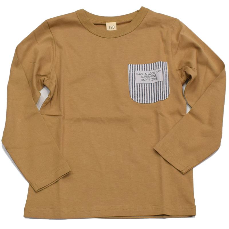 スーパーファイブ ヒッコリーポケット ロングTシャツ 421035