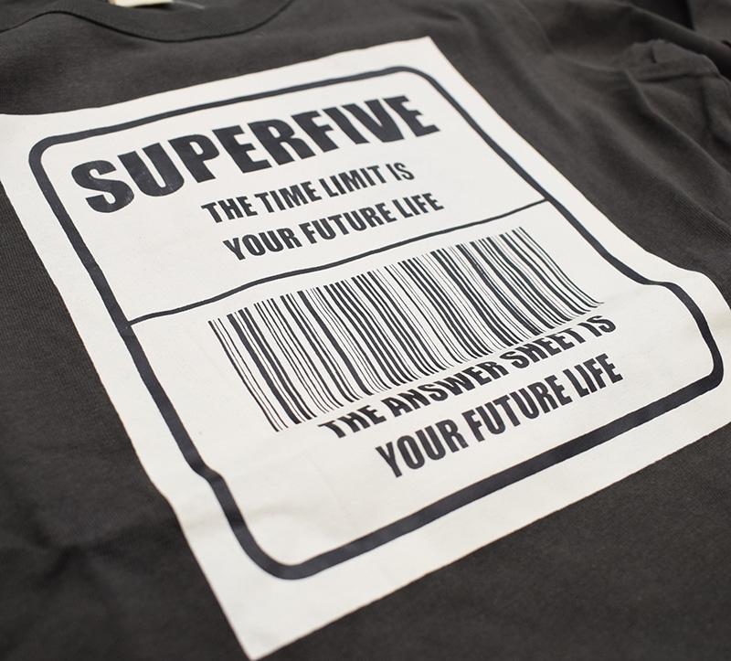スーパーファイブ バーコード ロングTシャツ