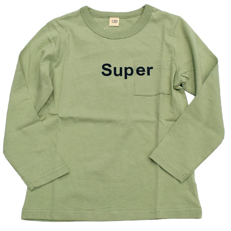 スーパーファイブ ロゴプリント ロングTシャツ 421037