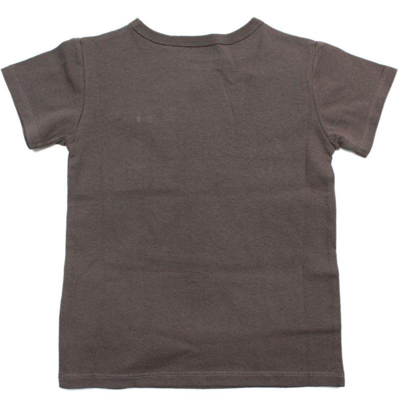 オーシャンアンドグラウンド デニムポケット 半袖Tシャツ チャコール