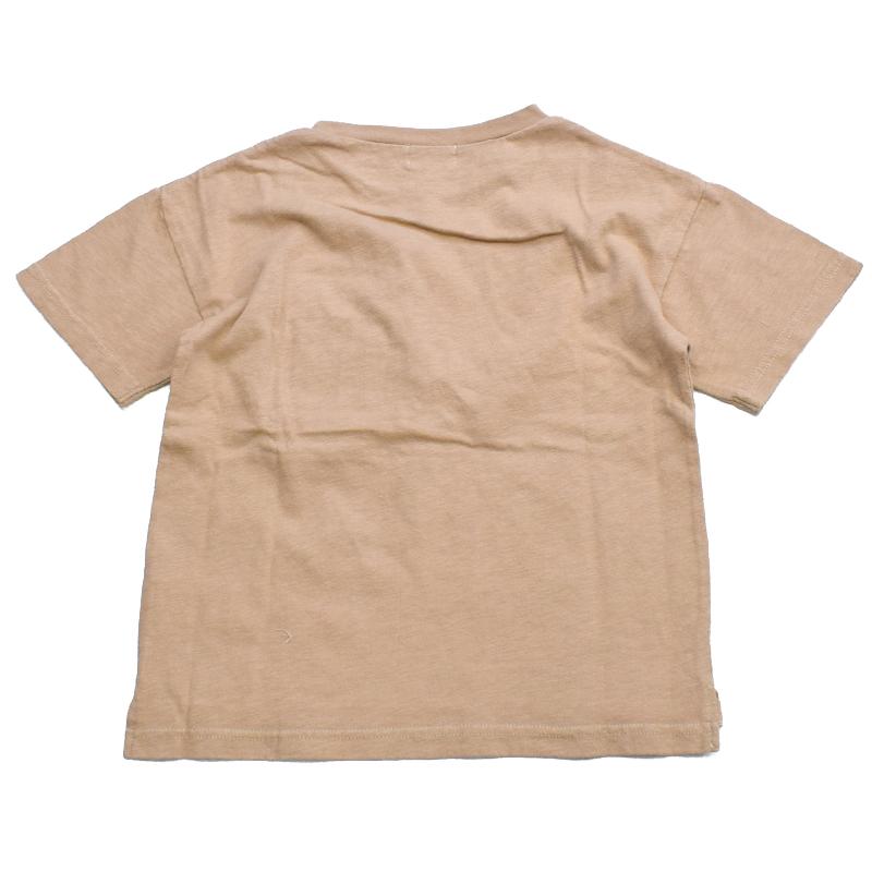 エフオーキッズ 製品染めポケットTシャツ ベージュ 207151