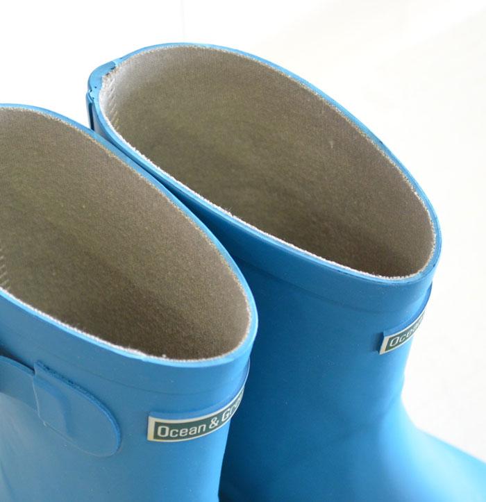 オーシャンアンドグラウンド レインブーツ 長靴 ターコイズブルー