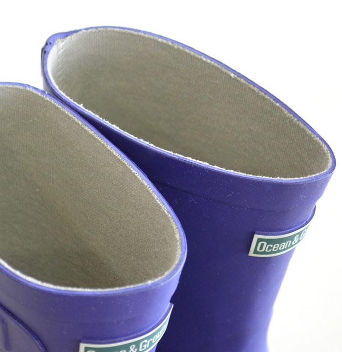 オーシャンアンドグラウンド レインブーツ  ネイビー 長靴