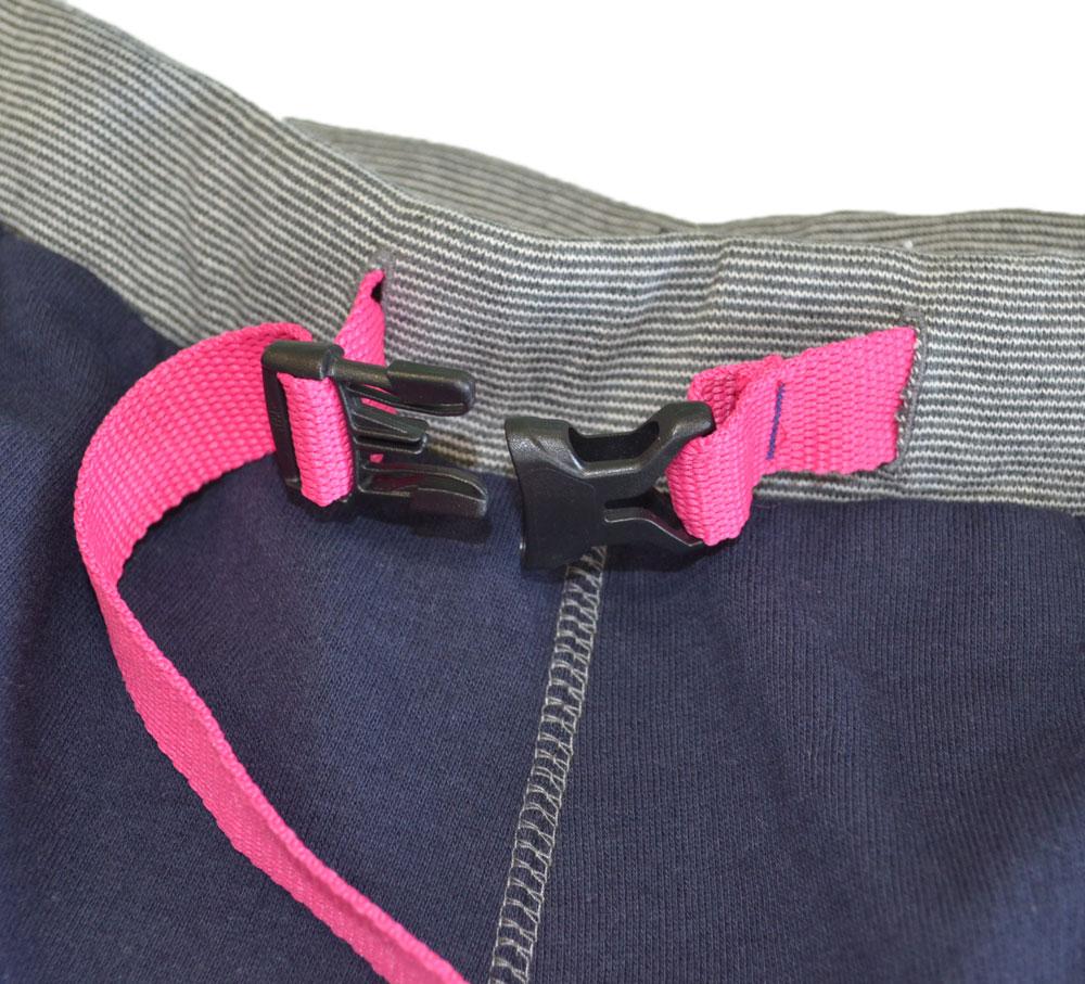 ジムマスター スウェットショートパンツ ネイビー×ピンク