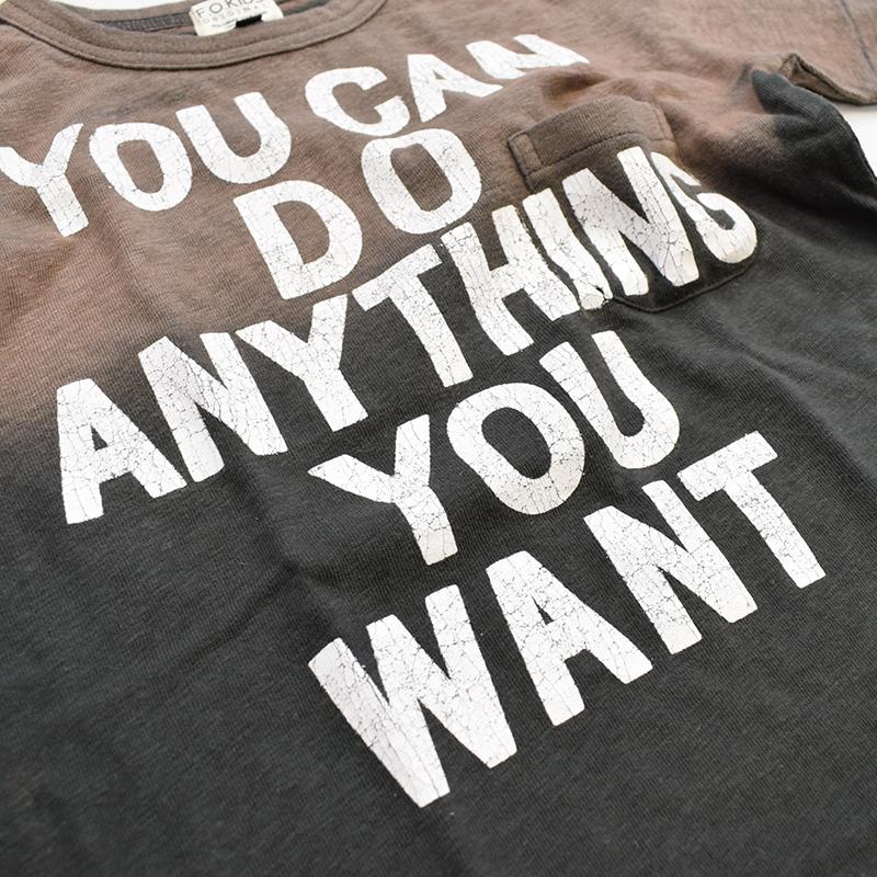 エフオーキッズ メッセージTシャツ チャコール 207121