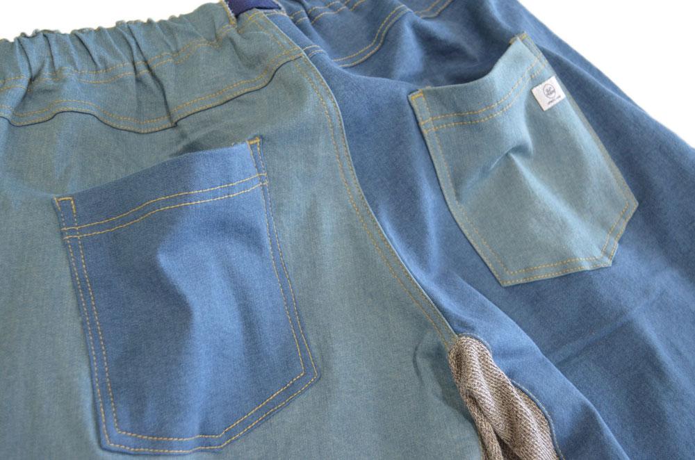 ジムマスター ストレッチデニムショートパンツ 淡色クレイジー 90