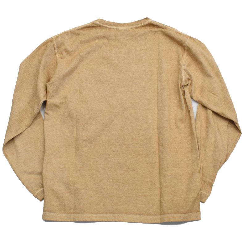 グッドオン GOODON ロングスリーブポケットクルーTシャツ ラテ