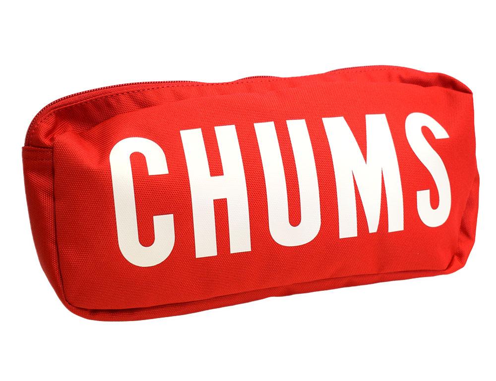 チャムス エコチャムスロゴウエストバッグ レッド CH60-2558