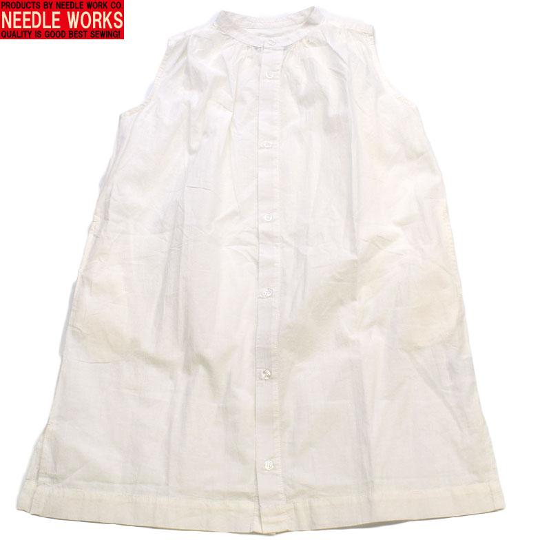 ニードルワークス ボイルシャツワンピース ホワイト 2121209