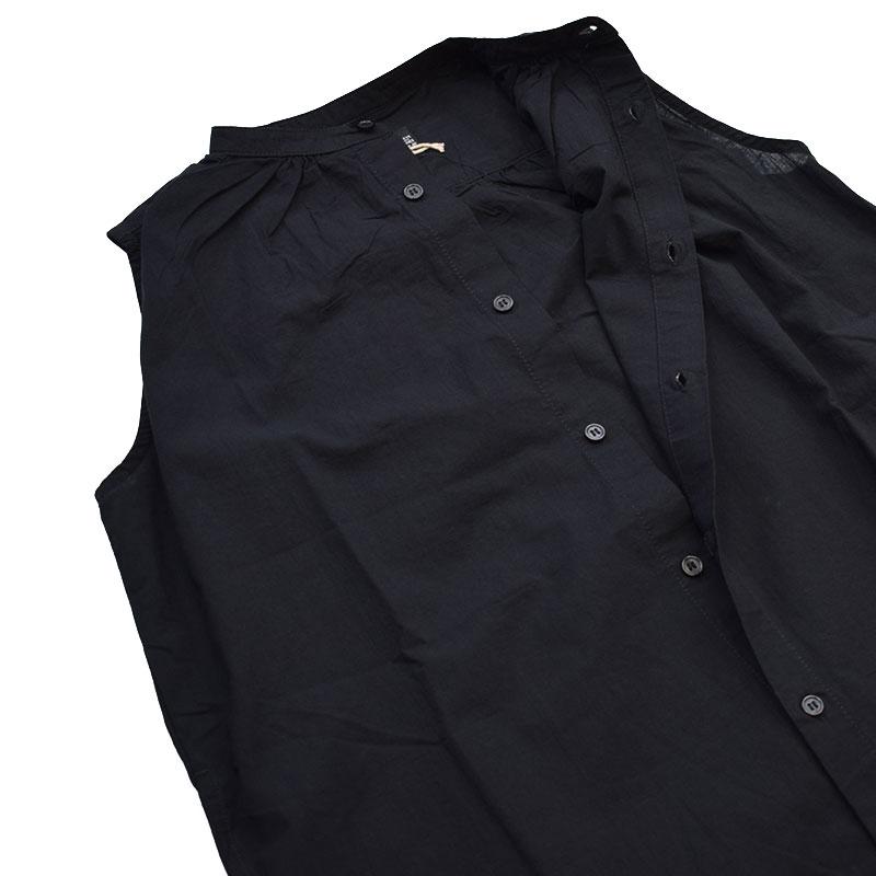 ニードルワークス ボイルシャツワンピース ブラック 2121209