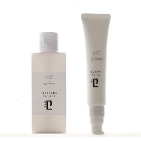 New*VCエチル化粧水(しっとり/100ml)&クリーム(50g)セット