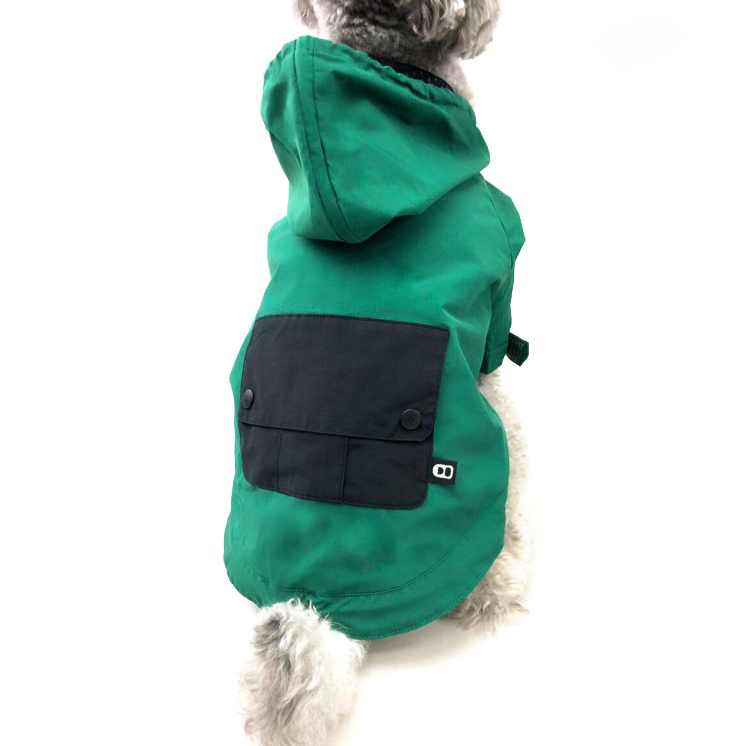 DRAWSTRING WINDBREAKER - GREEN