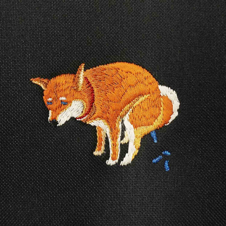SHIBA-INU POOPING POUCH - 赤柴