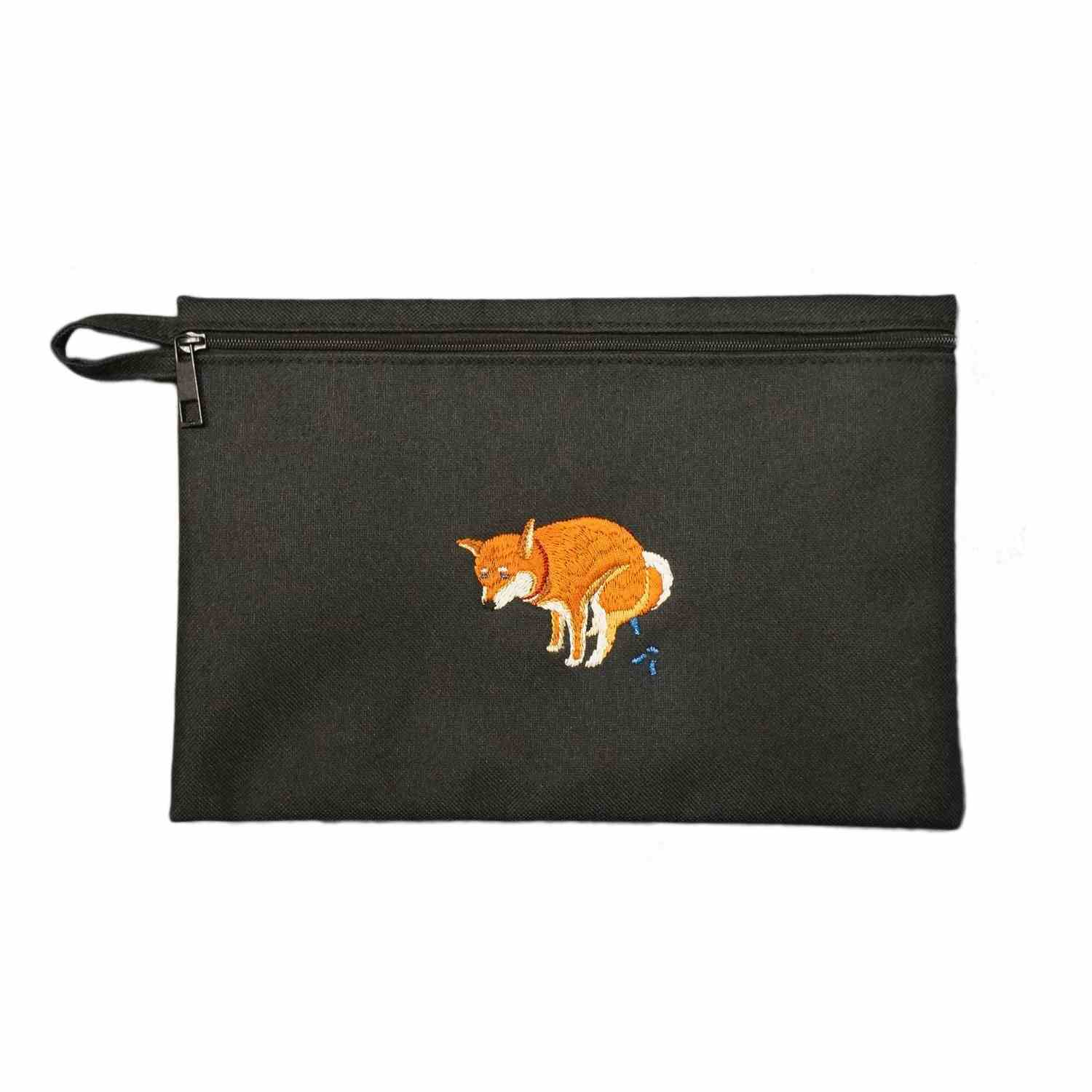 SHIBA-INU POOPING POUCH - 赤柴