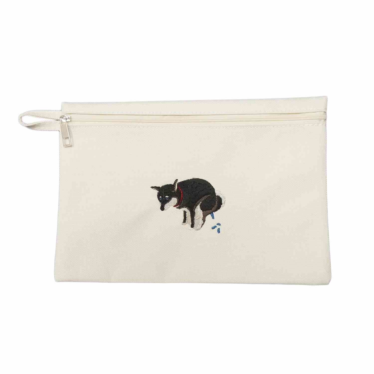SHIBA-INU POOPING POUCH - 黒柴