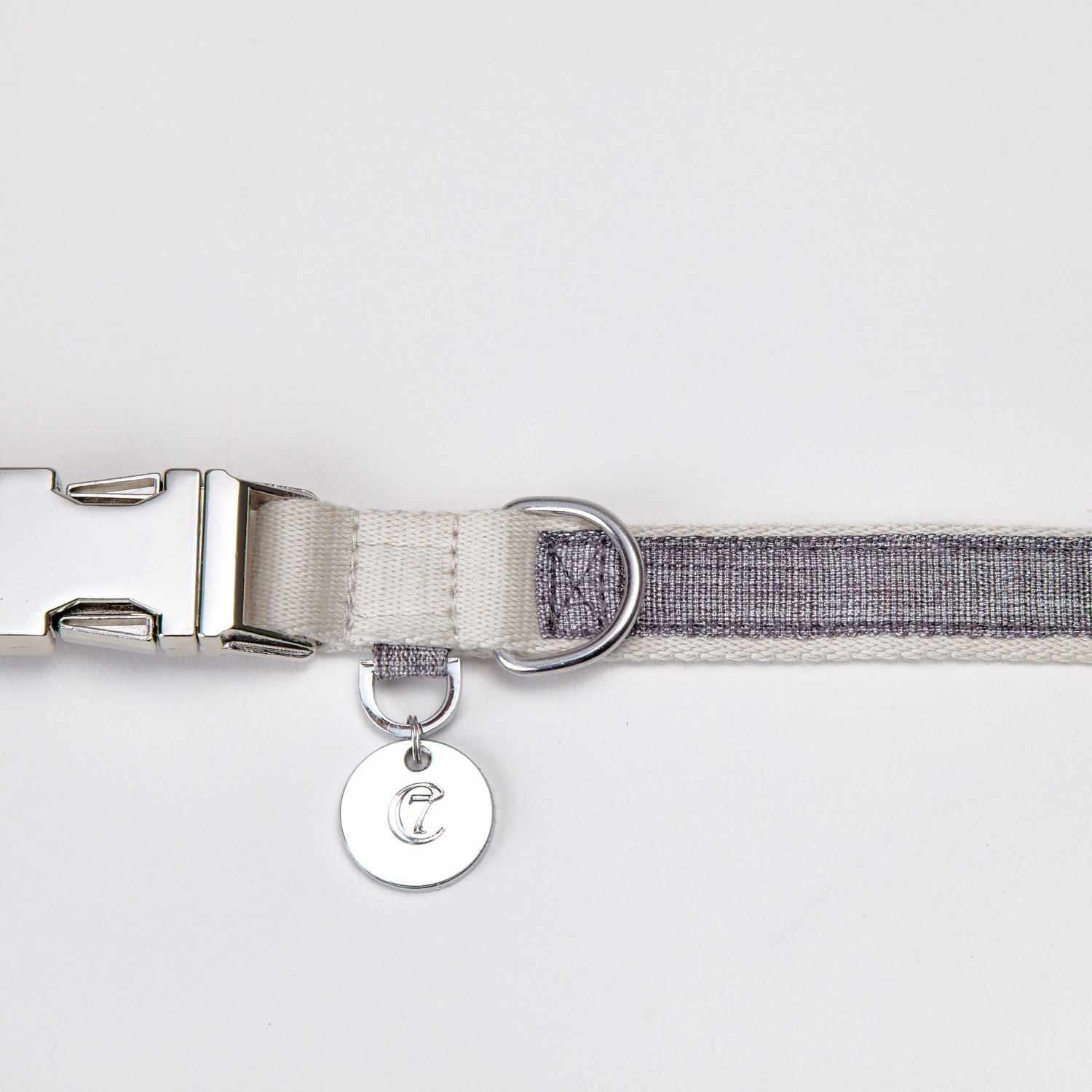DOG COLLAR COCO TAUPE