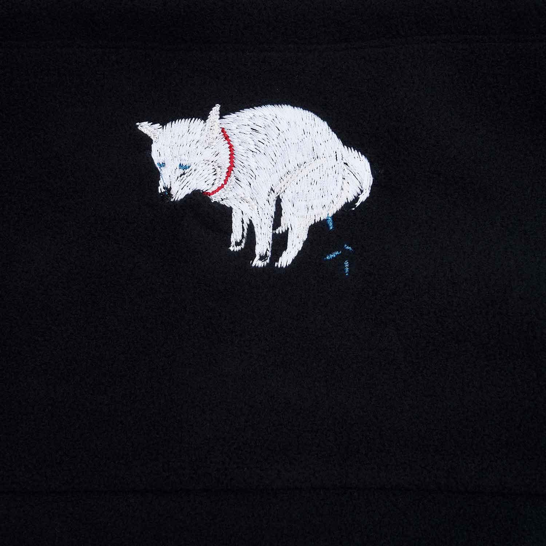 SHIBA-INU POOPING NECK WARMER - 白柴