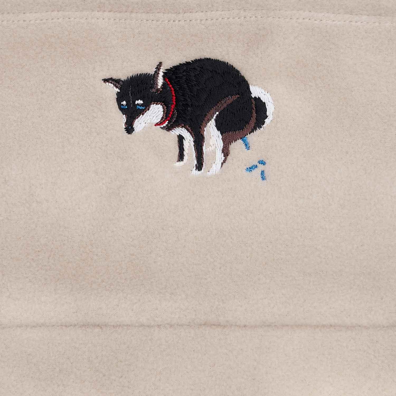SHIBA-INU POOPING NECK WARMER - 黒柴
