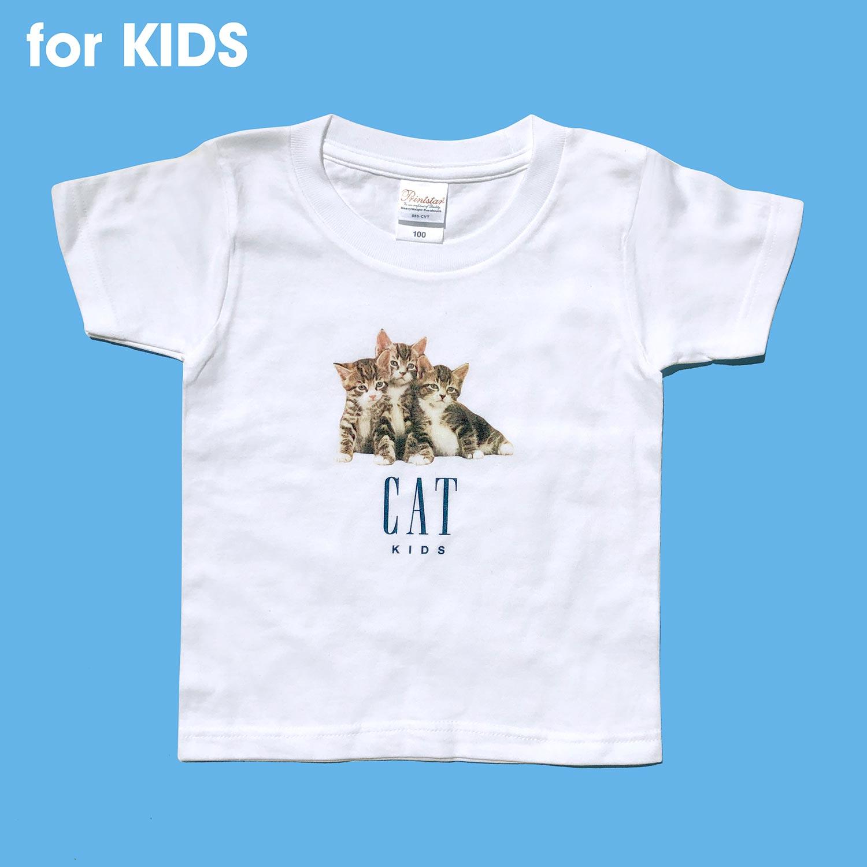 【KIDS】 CAT KIDS T-SHIRTS