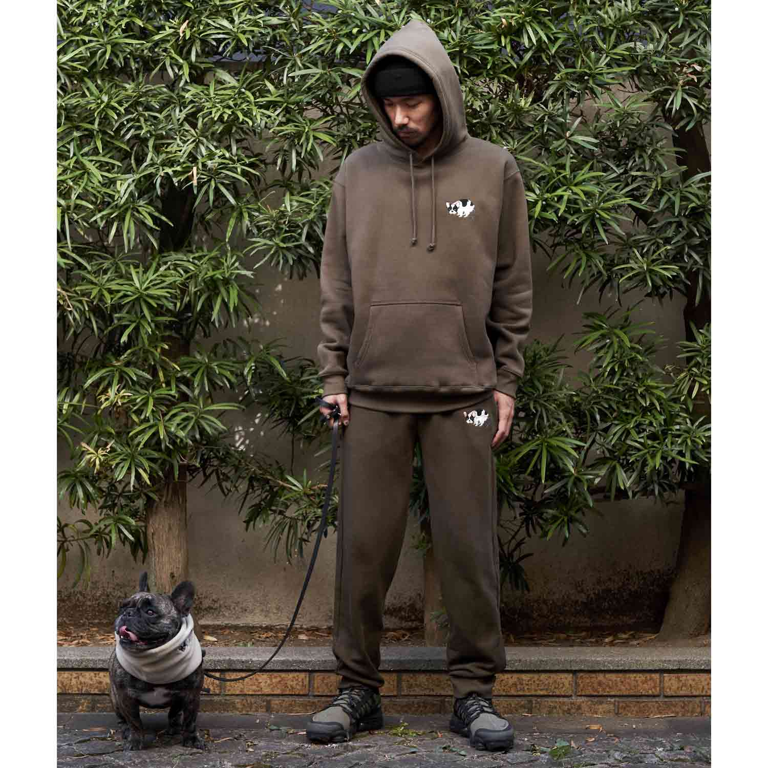 F/B POOPING PARKA - PIED