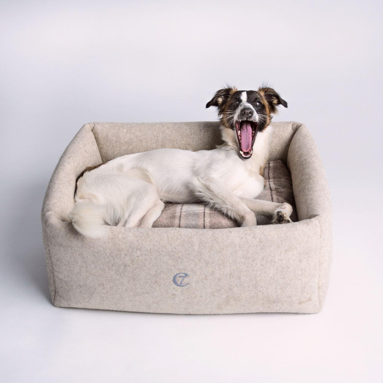 DOG BED LITTLE NAP FELT - NATURE