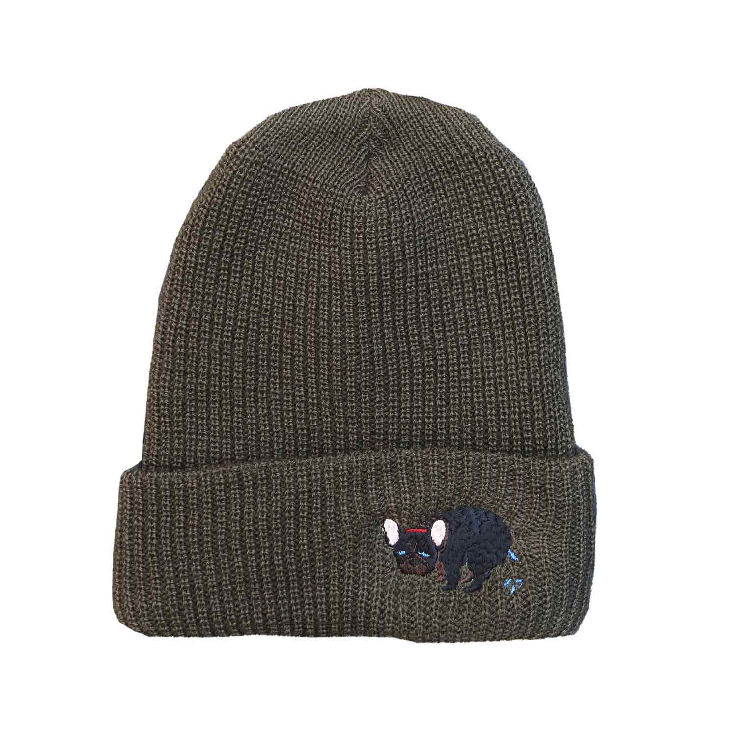 F/B POOPING KNIT CAP - BRINDLE