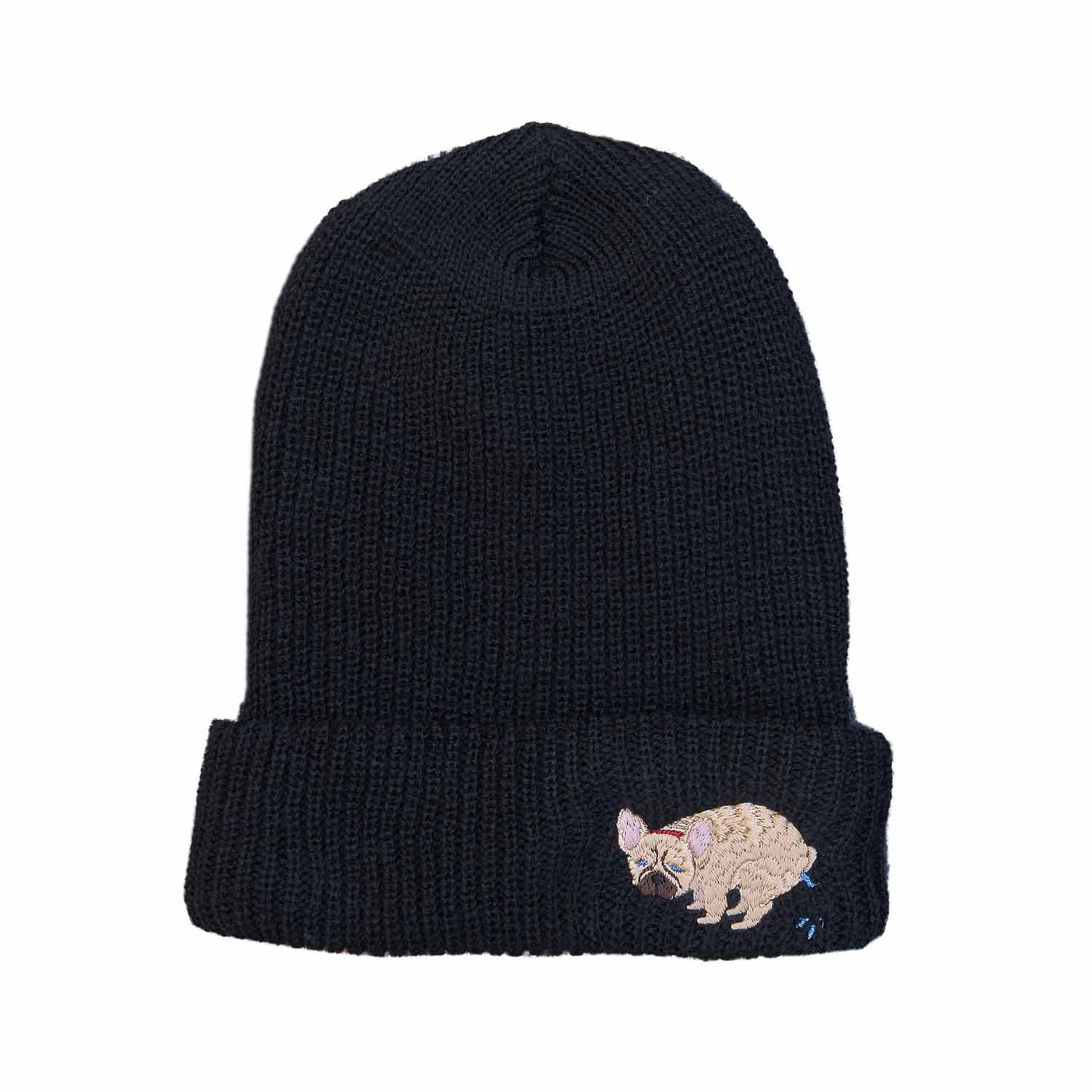 F/B POOPING KNIT CAP - FAWN