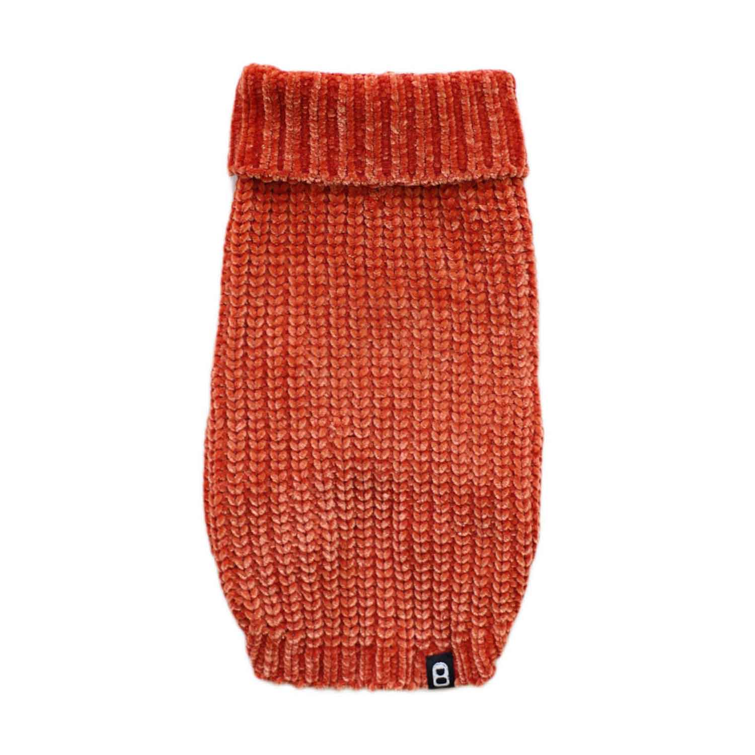CHENILLE YARN SWEATER ORANGE
