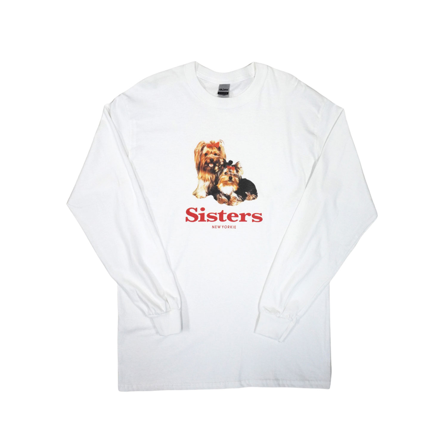 SISTER NEW YORKIE long sleeve T-SHIRTS - WHITE