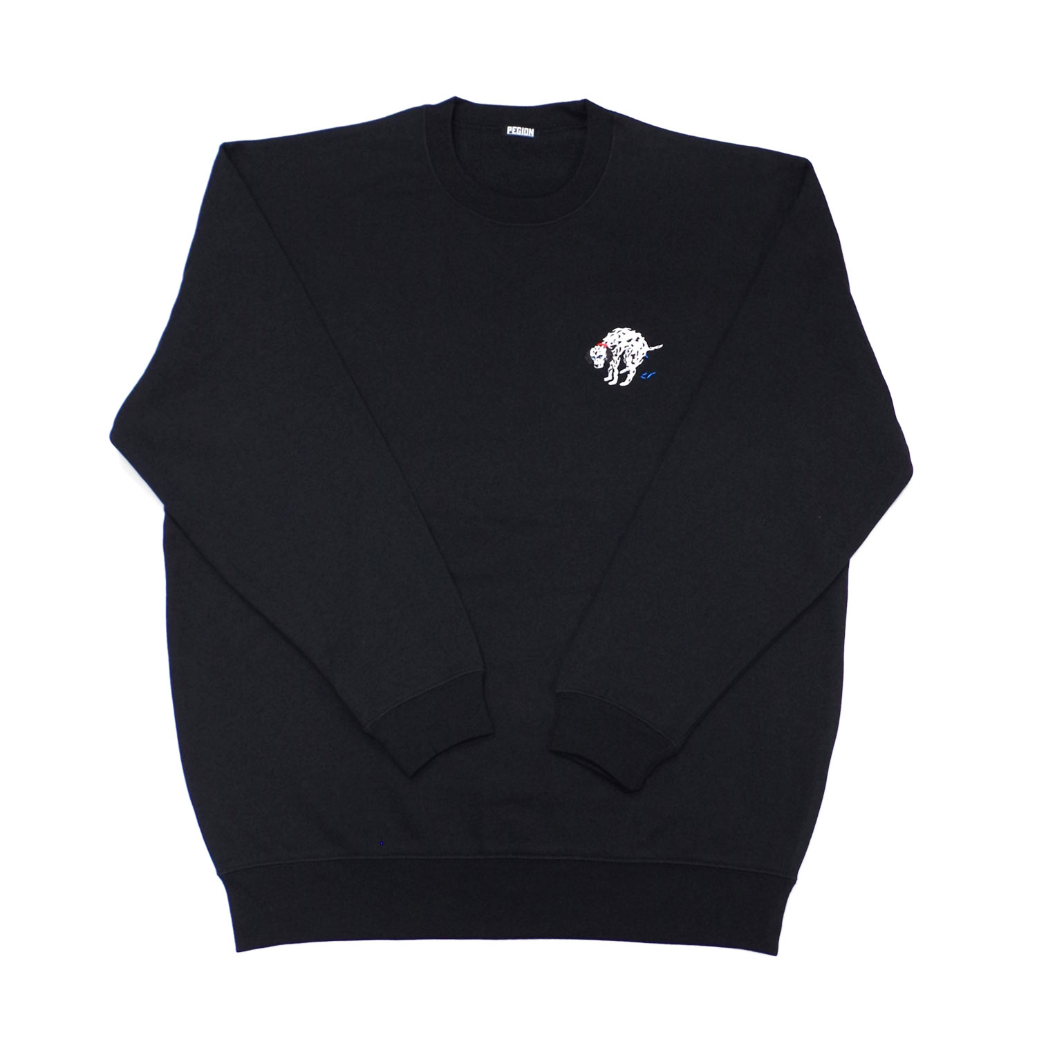 DALMATIAN ROUND NECK SWEAT TOP BLACK