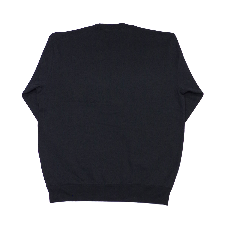 DALMATIAN ROUND NECK SWEAT TOP - BLACK