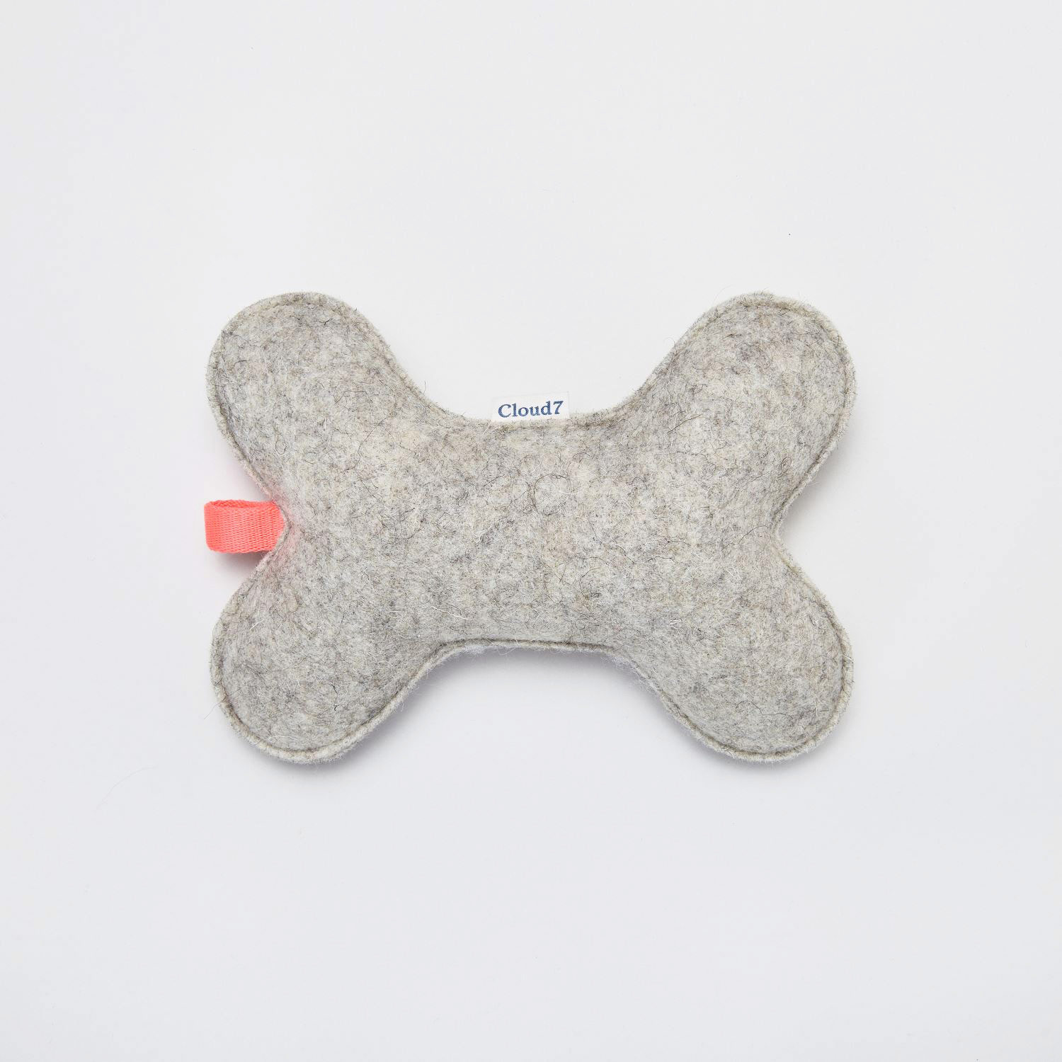 FELT TOY BONE GREY