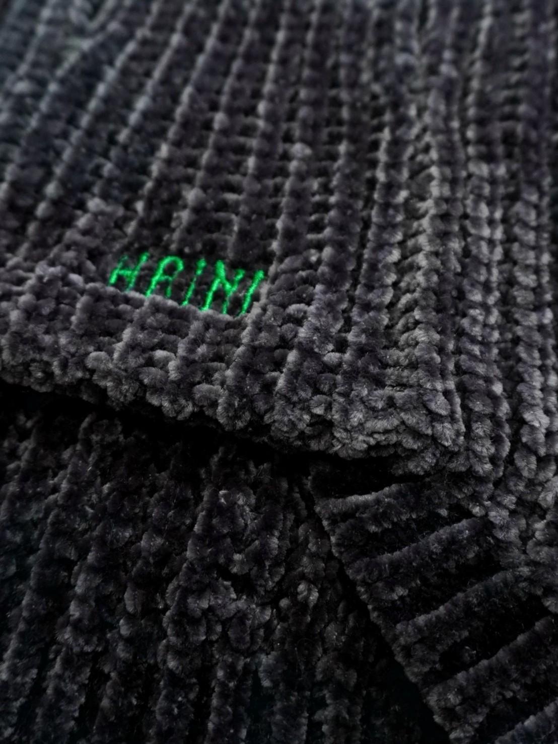 【予約商品】CHENILLE YARN SWEATER - BLACK
