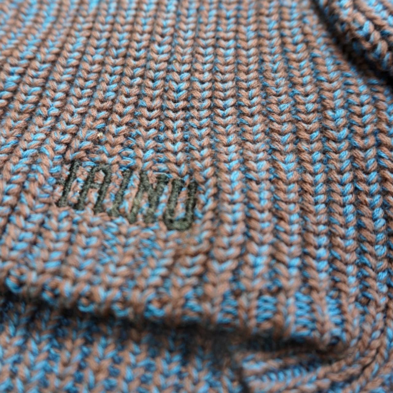 【予約商品】MIX COTTON SWEATER - BLUE/BROWN