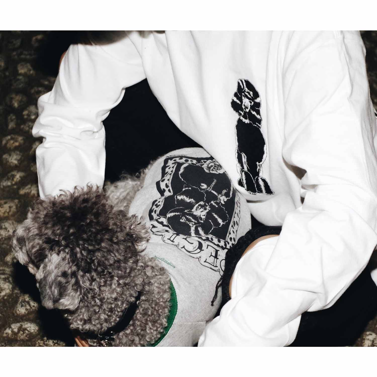 COOKIEBOY×PEGION POODLE DOG PARKA GREY