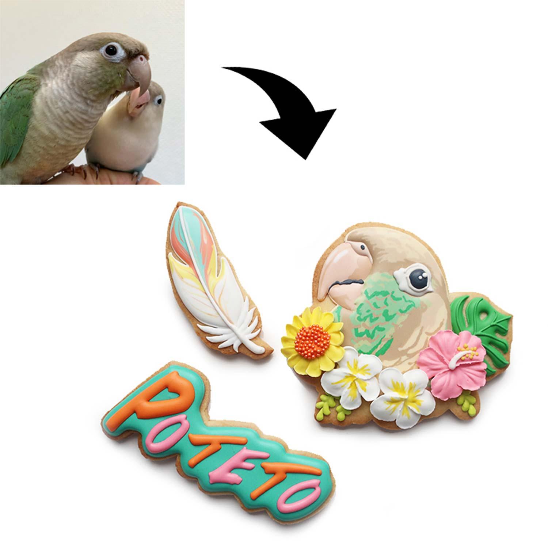 ペットの似顔絵クッキー