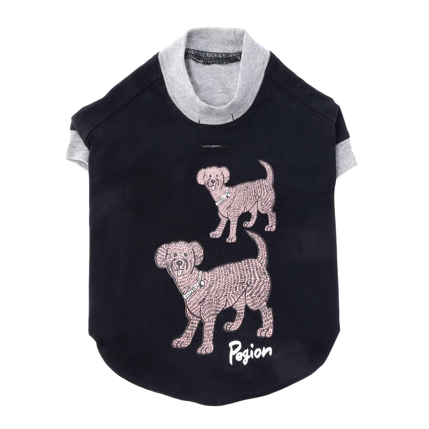 Two Dogs T-shirts for Dog  - BLACK