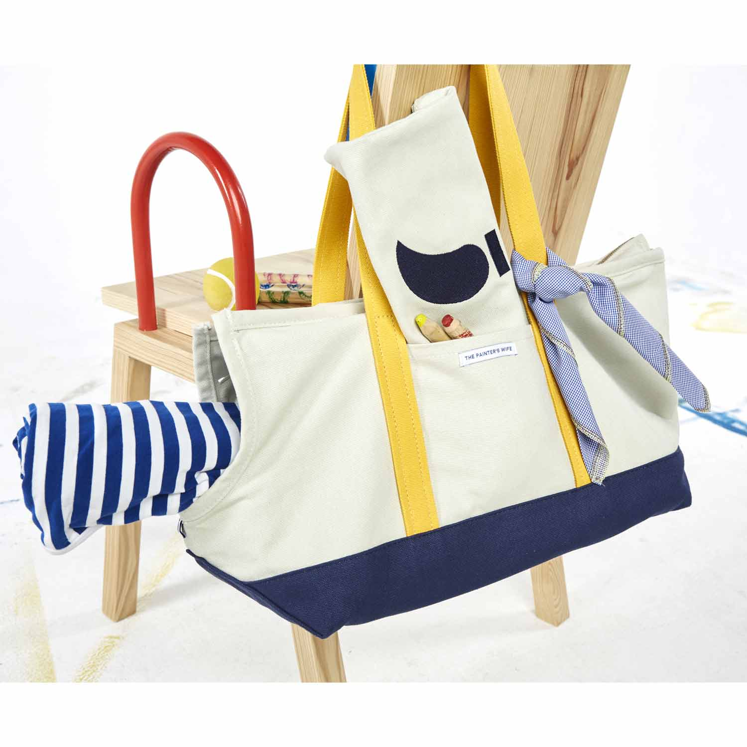 DOG CARRIER CONSTANTIN - NAVY/YELLOW