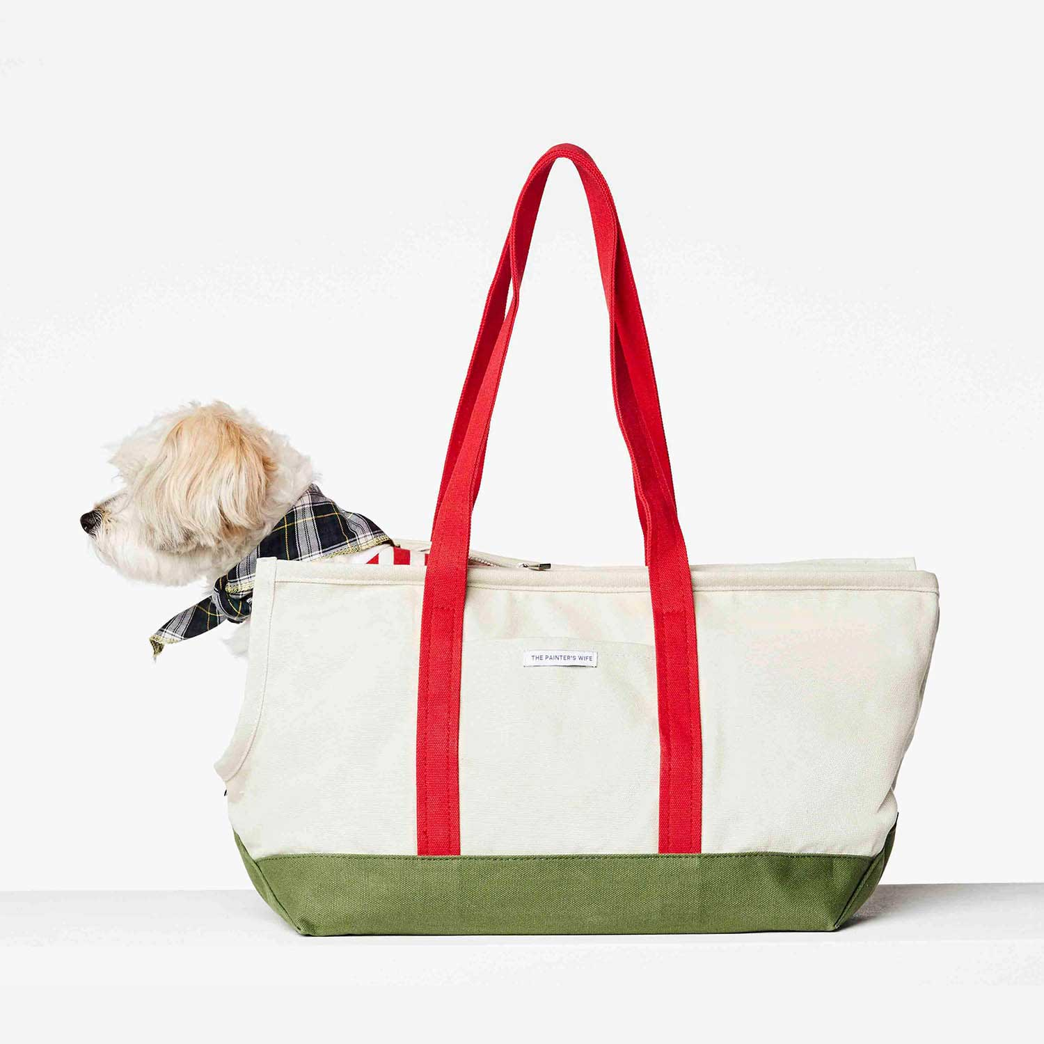 DOG CARRIER CONSTANTIN - GREEN/RED