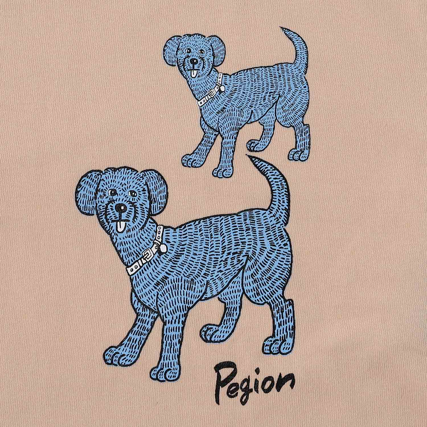 Two Dogs T-shirts  - L.BEIGE