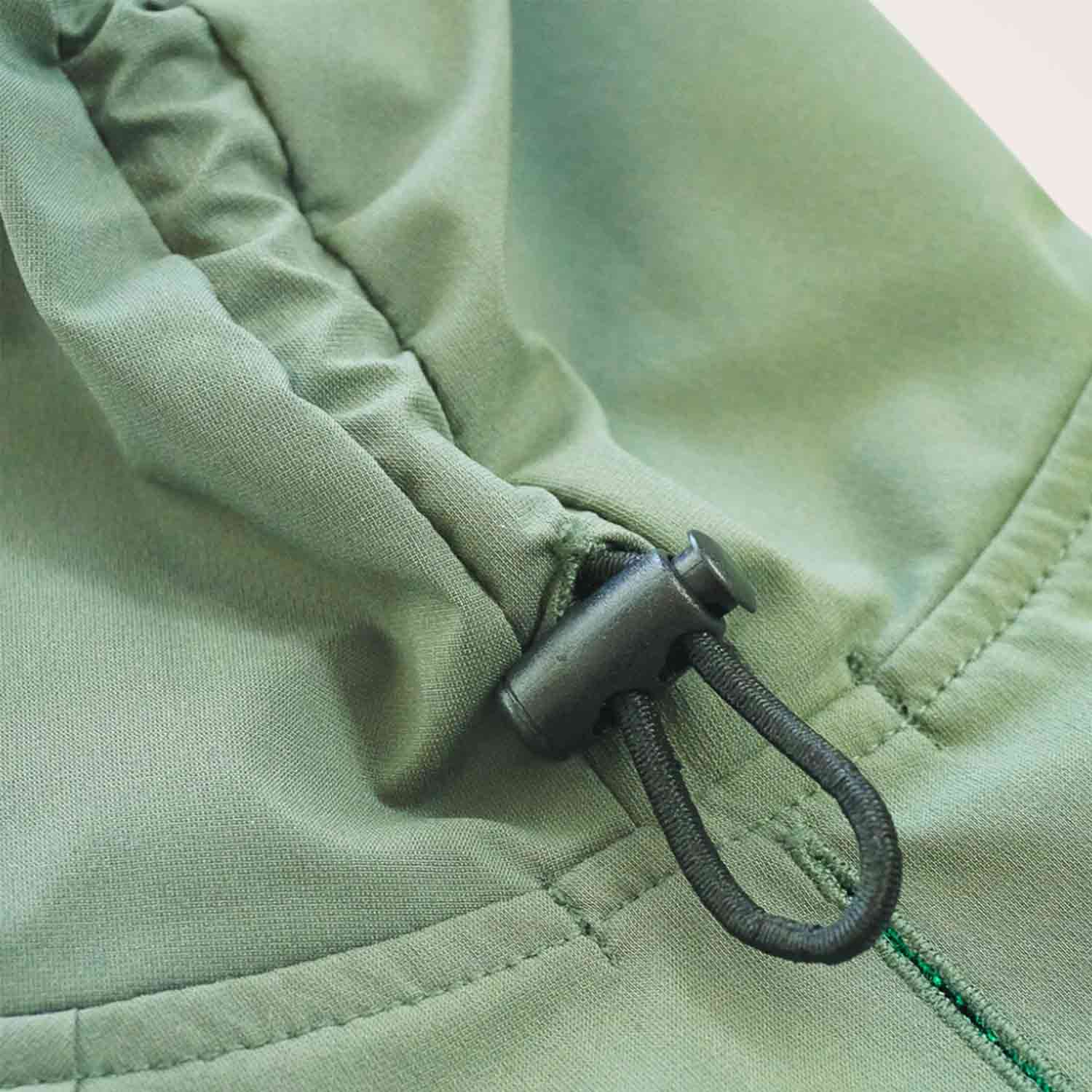 DRAWSTRING RAINCOAT - KHAKI